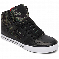 DC PURE HT WC SP M SHOE BLACK/CAMO PRINT