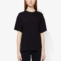 Proenza Schouler White Label Classic Short Sleeve Shirt BLACK