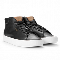 TRETORN TOURNAMENT LEATHER HI WP BLACK/WHITE