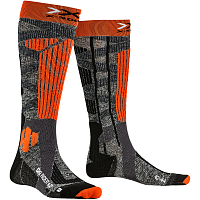 X-Socks SKI RIDER 4.0 STONE GREY MELANGE/X-ORANGE