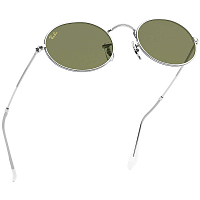 Ray Ban OVAL SILVER/BOTTLE GREEN
