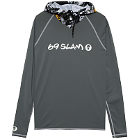 69slam CALEB RASH VEST HOODED WILD GARDEN