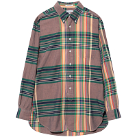 ENGINEERED GARMENTS 19 CENTURY BD SHIRT ORANGE/GRN/NVY BIG MADRAS PLAID