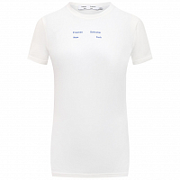 Proenza Schouler White Label Solid Stretch Jersey T-shirt OFF WHITE