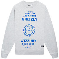 Grizzly MIRRORED CREWNECK HEATHER GREY
