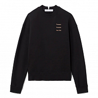 PROENZA SCHOULER WHITE LABLE LONG SLEEVE LOGO SWEATSHIRT BLACK/PEACH SMALL PS NY