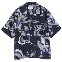 Noma t.d. Summer Shirt - Floral GRAY - FLORAL OF MEMORIES