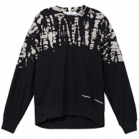 Proenza Schouler White Label Fluid Sweatshirt TIE DYE Long Sleeve BLK/PEARL TIE DYE DOT