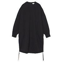 HYKE Crew Neck Dress BLACK