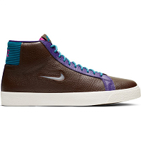 Nike SB ZOOM BLAZER MID PRM BAROQUE BROWN/WHITE-GREEN ABYSS