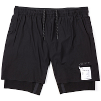 SATISFY JUSTICE TRAIL LONG DISTANCE 10 SHORTS BLACK