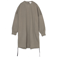 HYKE Crew Neck Dress GRAY