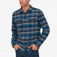 Patagonia M'S L/S FJORD FLANNEL SHIRT NEW NAVY