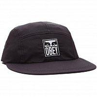 OBEY VANISH 5 PANEL HAT BLACK