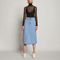 Proenza Schouler White Label Denim Skirt PERIWINKLE BLEACH