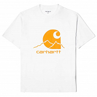 Carhartt WIP S/S OUTDOOR C T-SHIRT WHITE / POP ORANGE