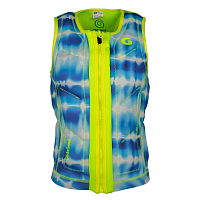 Glidesoul VEST Tie and dye print/Lemon