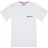 BERGHAUS HERITAGE FRONT AND BACK LOGO TEE WHT/WHT PURE WHITE/PURE WH