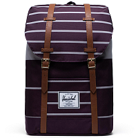Herschel RETREAT PREP STRIPE BLACKBERRY WINE