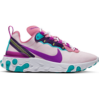 Nike W NIKE REACT ELEMENT 55 MAGIC FLAMINGO/VIVID PURPLE-EGGPLANT