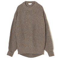 HYKE Ribbed Wool Sweater TOP BROWN