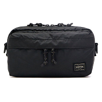 PORTER YOSHIDA FORCE 2WAY WAIST BAG BLACK