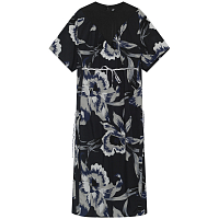 Noma t.d. STRINGS DRESS GRAY - FLORAL OF MEMORIES