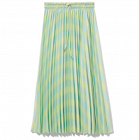 PROENZA SCHOULER WHITE LABLE GEORGETTE PLEATED SKIRT SHDWLIME/BLGLSS DIFF GING