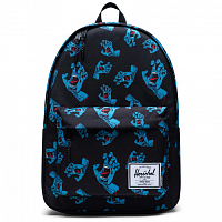 Herschel CLASSIC X-LARGE BLACK CYAN SCREAMING HAND