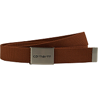 Carhartt WIP Clip Belt Chrome BRANDY