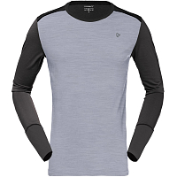 NORRONA WOOL ROUND NECK mid grey