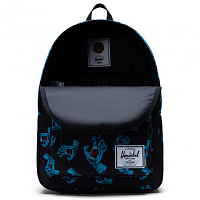 Herschel STUDIO CLASSIC X-LARGE BLACK CYAN SCREAMING HAND