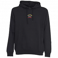 PAUL AND SHARK LOGO HOODIE BLACK