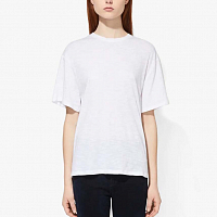 Proenza Schouler White Label Classic Short Sleeve Shirt OFF WHITE