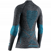 X-Bionic ENERGY ACCUMULATOR 4.0 MELANGE SHIRT ROUND NECK LG DARK GREY MELANGE/WATER GREEN