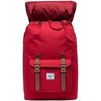 Herschel Little America Mid-Volume RED/SADDLE BROWN