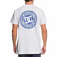 DC CIRCLE STAR FB M TEES SNOW WHITE/NAUTICAL BLUE