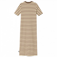 STUSSY MIX STRIPE DRESS Charcoal