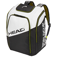 Head REBELS RACING BACKPACK ANTHRACITE/WHITE/NEON YELLOW