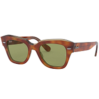 Ray Ban State Street TOP TORTOISE/TRANSPARENT BEIGE/BOTTLE GREEN