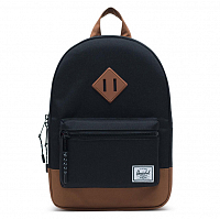 Herschel Heritage Kids Black/Saddle Brown