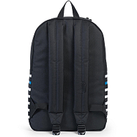Herschel Heritage BLACK OFFSET STRIPE/BLACK VEGGIE TAN LEATHER