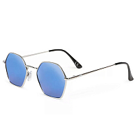 Vans RIGHT ANGLE SUNGLASSES SILVER-BLUE MIRROR LENS