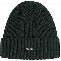 Stussy SMALL PATCH WATCHCAP BEANIE GREEN