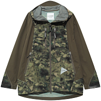 And Wander PRINTED UV SHIELD JACKET KHAKI