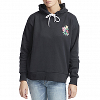 RVCA BOUQUET HOODIE FADED BLACK