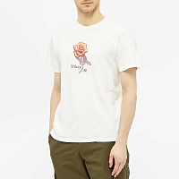 Stussy 80 ROSE PIG. DYED TEE NATURAL