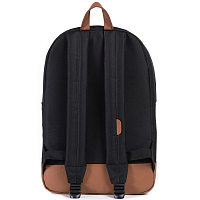 Herschel Heritage Black/Tan Synthetic Leather