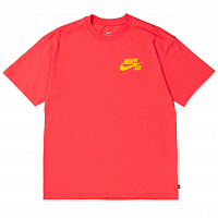 Nike M NK SB TEE LOGO LT FUSION RED/UNIVERSITY GOLD