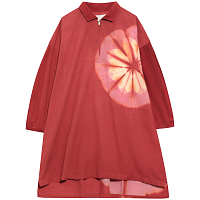 STORY MFG BEBE OVERSIZED SMOCK PINK RED BLOOM